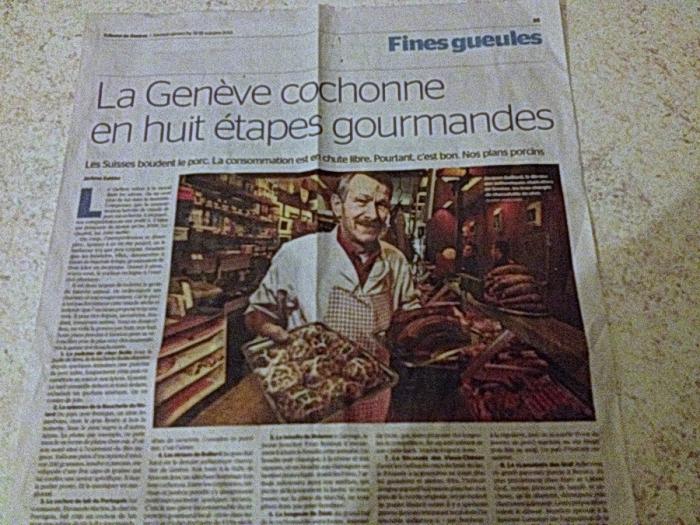 Vu dans la Tribune de Genève